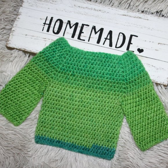 Green Nwot Baby Sweater 0-3 month